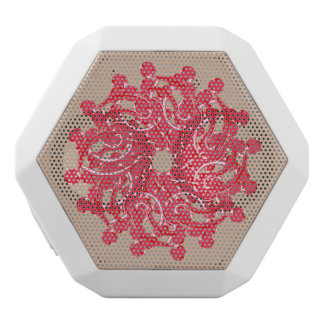 Abstarct art rose white bluetooth speaker