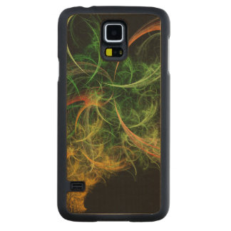 Abstarct Art Space Flowers Carved® Maple Galaxy S5 Case