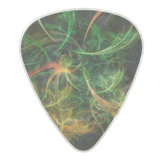 Abstarct Art Space Flowers Pearl Celluloid Guitar Pick