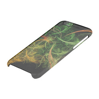 Abstarct Art Space Flowers Clear iPhone 6/6S Case