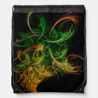 Abstarct Art Space Flowers Drawstring Backpack