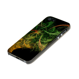Abstarct Art Space Flowers Metallic iPhone SE/5/5s Case