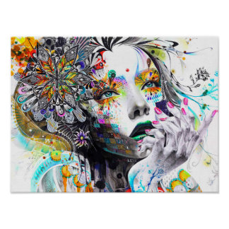 Abstarct girl. poster