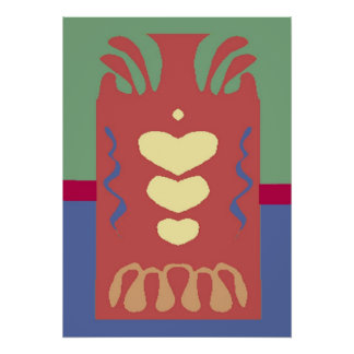 Abstarct: Jug of Hearts Poster