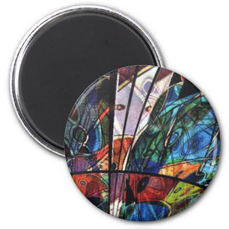 abstIMG_6877Abstract cut glass image Magnets