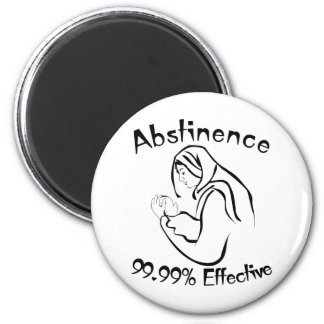 Abstinence 99.99% Effective 2 Inch Round Magnet