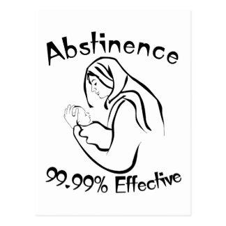 Abstinence 99.99% Effective Postcard