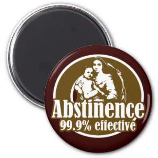Abstinence 99% Effective Religious Humor 2 Inch Round Magnet