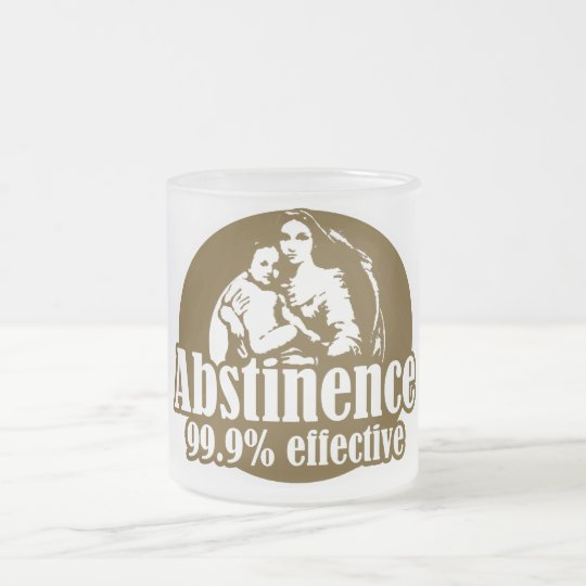 Abstinence 99% Effective Religious Humor Frosted Glass Coffee Mug