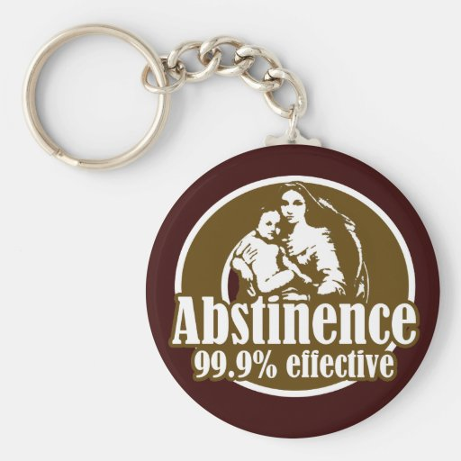 Abstinence 99% Effective Religious Humor Basic Round Button Keychain