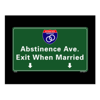Abstinence Ave Postcard