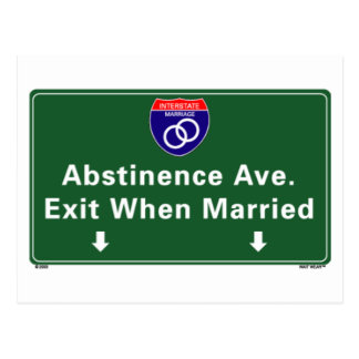 Abstinence Ave. Postcard