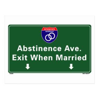 Abstinence Ave. Postcard