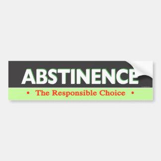 Abstinence Bumpersticker Bumper Sticker
