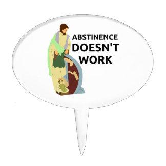 Abstinence Doesn't Work Cake Picks