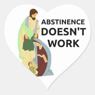 Abstinence Doesn't Work Heart Sticker