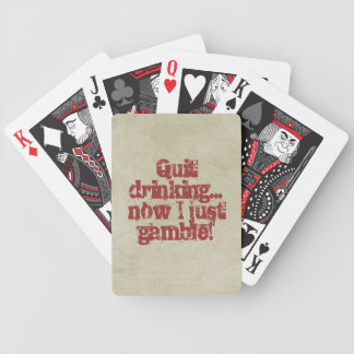 Abstinence Humor/Vintage Style Bicycle Playing Cards