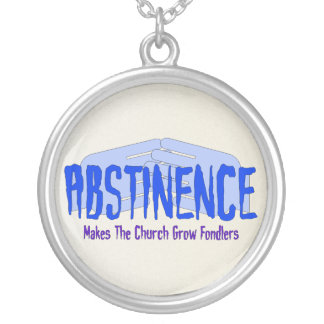 Abstinence Round Pendant Necklace