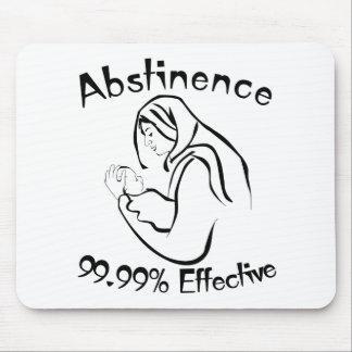 Abstinencia 99,99% eficaz alfombrillas de raton
