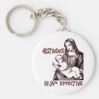Abstinencia:  99,99% Eficaz Llavero Redondo Tipo Pin