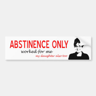 Abstinencia solamente pegatina para auto