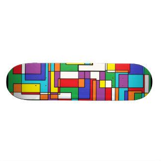 "Abstraact multicolor patineta 7 7/8"""
