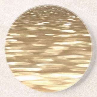 Abstrac #3: Gold shimmer Coaster