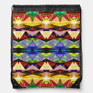 Abstrac geométrico colorido mochilas