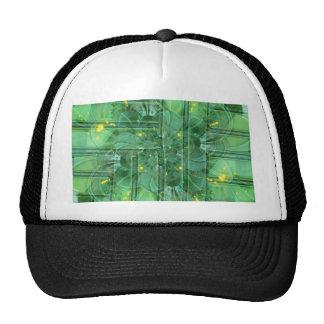 abstrac t pattern collage Flower green by Tutti Trucker Hat