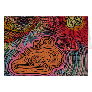 Abstracción # 1 tarjeta de felicitación