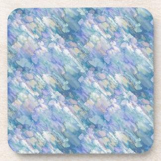 Abstracción azul en colores pastel posavaso