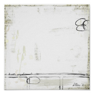 Abstracción blanca impresiones