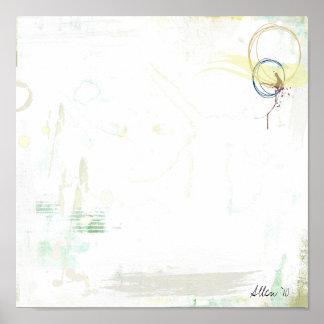 Abstracción blanca poster