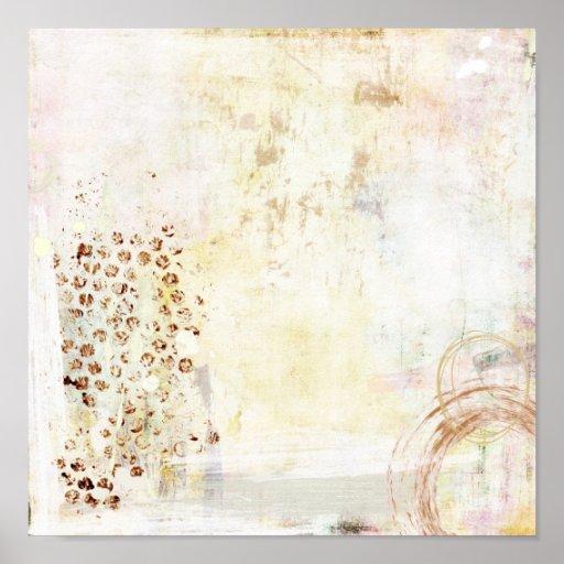 Abstracción blanca póster