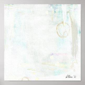 Abstracción blanca posters