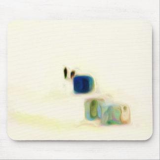 Abstracción de las chabolas del hielo tapetes de ratón