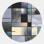 Abstracción del arte moderno etiquetas redondas