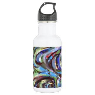 Abstracción del clima tempestuoso botella de agua de acero inoxidable