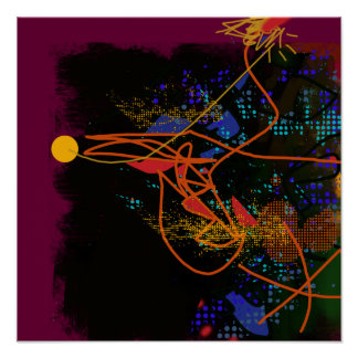 abstracción del décor póster