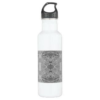 abstracción floral botella de agua