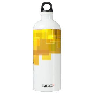 abstracción geométrica botella de agua