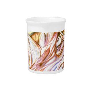 abstracción incandescente jarras para bebida