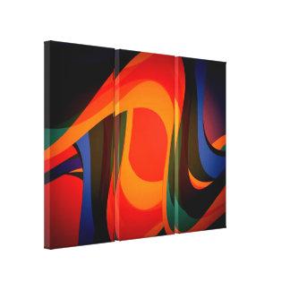 Abstracción líquida moderna 2 impresiones en lienzo estiradas