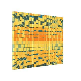 Abstracción líquida moderna retra impresión en lienzo estirada