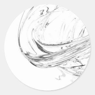Abstracción orgánica de QionLab Pegatina Redonda
