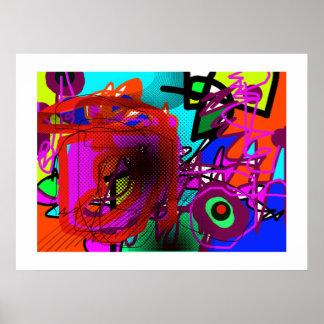 abstracción para las paredes, impresiones