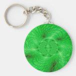 abstracción verde de neón llavero redondo tipo pin