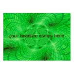 abstracción verde de neón tarjetas de negocios