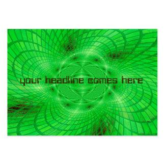 abstracción verde de neón tarjetas de visita grandes