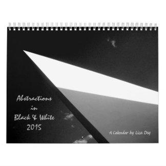 """""""Abstracciones en calendario negro y del blanco"""""""